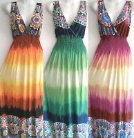 PLUS SIZE Women Long Maxi summer beach party boho evening casual sundress