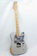 Fender Brad Paisley Road Worn Telecaster Electric Guitar w/ Bag, Silver