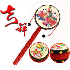 Chinese Traditional Spin Toy Rattle Drum Hand Bell Baby Educational Toy LD