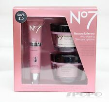Boots No7 Restore & Renew Face & Neck Multi Action Skincare System MatureSkin50+