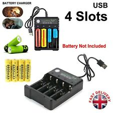 More details for 4 slot intelligent fast battery charger li-ion aa aaa 4.2v 1000ma 18500 14500