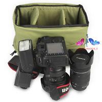 Waterproof DSLR SLR Camera Bag Padded Lens Protector Insert Partition Handbag N