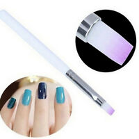 2x  Nail Art Brush Acrylic Handle UV Gel Pen Polish Painting Manicure Tool q2w