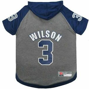 Pet's First Russell Wilson NFL Officially Licensed Pet Hoodie Tee for Dogs&Cats