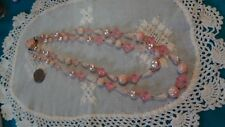 West Germany pink tones beaded double strand necklace