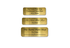 NAME PLATE Gold Rounded Corners Customised PREMIUM Quality METAL TROPHY PLAQUE