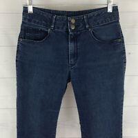 Mossimo womens size 6 stretch blue dark wash high rise skinny slim jeans