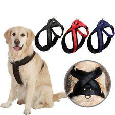 Harnais promenade chien grand confort rembouré  taille S M L XL rouge noir bleu