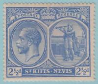 St. Kitts Nevis 28 Mint Hinged OG * - No faults Extra Fine!