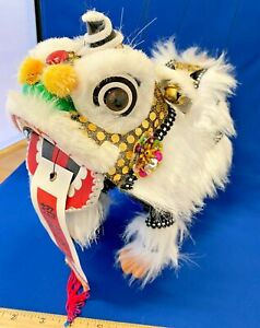 CHINESE NEW YEAR PUPPET LION DRAGON HEAD DANCE HANGING MARIONETTE Good Luck