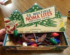 Vintage Noma Santa Multiple Christmas Lights Lites Orig Display Box Working C-7