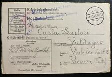 1944 Germany Stalag 13D POW Prisoner of War Postcard Cover To Vicenza Italy