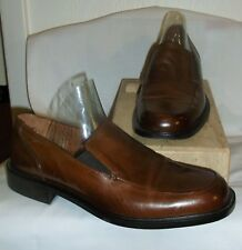 BOSTONIAN ~ITALY~  MENS BROWN LEATHER SLIP ON LOAFERS~ 8-1/2 M