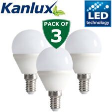 3x New Kanlux 6.5 W SMD DEL e14 3000k Golf Balle Light Bulb Lamp 600 LM chaud White