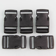 10 Pcs Plastic Black Strap Webbing 25mm Side Release Buckle Sewing Craft 1 inch