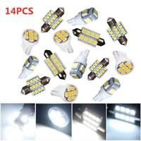 14PCS LED SMD Car Dome Interior License Registration Number Plate Light Bulbs