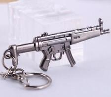 Cross Fire CF Submachine Gun KeyRing MP5 Cool Miniature Weapon Model Keychain ^