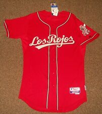 Cincinnati Reds Hispanic Heritage Authentic Cool Base Jersey sz 44 Majestic tags