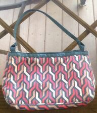 DVF LESPORTSAC BAG SMALL BLACK RED TAUPE BEIGE PATTERN