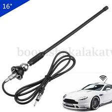 16'' Car Auto Roof Radio Antenna FM/AM Signal Booster Amplifier Aerial Whip Mast