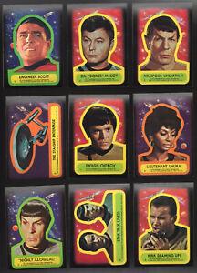 Star Trek Topps Trading Card 20 Sticker Lot NM   1976