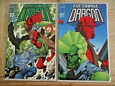 Savage Dragon #34, 35 Hellboy story line cool covers VF
