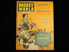 October 1969 Hockey World Magazine - Gordie Howe Cover