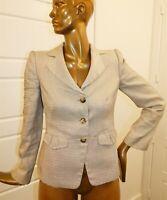 Armani Collezioni sz 6 Beige Brown Wool Blend Jacket Blazer Italy