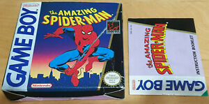 THE AMAZING SPIDER-MAN for NINTENDO GAME BOY *EMPTY BOX & MANUAL ONLY*