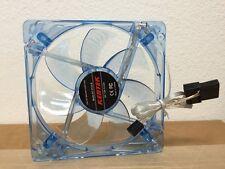 120MM 12CM PC System Computer Case Fan Blue LED Light 3/4 Pin Wire Screws Quiet