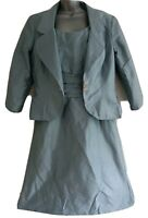 SARAH DANIELLE Women's Pacific Silk A-Line Dress & Jacket Suit. UK 18, US 14.