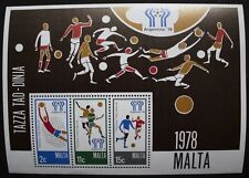 World cup football stamp sheet, Argentina, 1978, Malta, SG ref: MS604, MNH