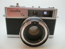 Minolta Hi-Matic 7s Rangefinder 35mm Film Camera 45mm 1.8 Lens --- WORKING GOOD!