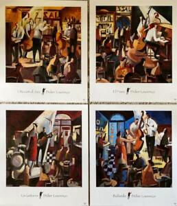 "Set of 4 Art Print  on Fine Art Paper by Didier Lourenco 14"" x16"" each Original"