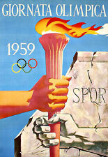 ART AD 1959 Italien Jeux Olympiques Poster Print