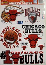 Chicago Bulls NBA Basketball 11 x 17 Muliple Window Clings by Color Cling