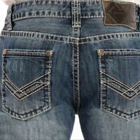 "ROCK & N ROLL COWBOY Men's Pistol Fit Boot Cut Leg ""V"" Jeans M0P9484 NWT"