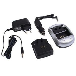 Ladegerät + KFZ für Panasonic Lumix DMC-TZ10 DMC-ZX1