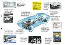 AC Cobra 427 Coupe-Cabriolet Sport Daytona V8 UK-USA 1962 Car Auto FICHE FRANCE