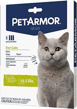 Cat Flea Tick Treatment Over 1.5 Lbs Includes 3 Month Supply Topical Application