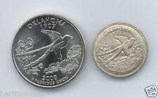 Uncirculated 2008 P or D OK Quarter, magnetically SHRUNK to diameter of a dime!