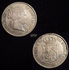 *GUTSE*600-ISABEL II, 40 CÉNTIMOS DE ESCUDO 1865, MADRID, EBC