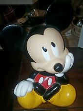 Disney Sitting Mickey Mouse Rubber Plastic Coin Piggy Bank KB Home