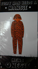 NEW Sz S Mansie One Piece Tiger Zip Hood Supersoft Furry Fleece Suit Pj Footless
