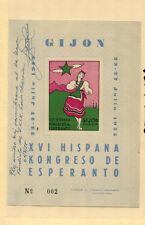 Spain 1955 Costumes Esperanto Congress Souvenir Sheet Louis Obrecian Autograph