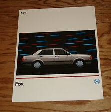 Original 1989 Volkswagen VW Fox Sales Brochure 89