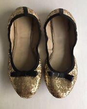 19340f217cf6 Kate Spade Women s Black Gold Glitter Ballet Flats Sz. 6 US
