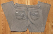 CHICOS PLATINUM DENIM STRETCHY COMFY SIZE 1.5 SHORT WOMENS MEDIUM GRAY JEANS
