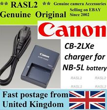 Original Canon charger,cb-2lxe, NB-5L IXUS 960 950 900 Ti 870 860 850 830 800 is