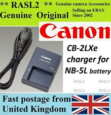 Genuino Original Canon charger,cb-2lxe, Ion Nb-5l Powershot S100 S110 Sx220 Sx230 Hs